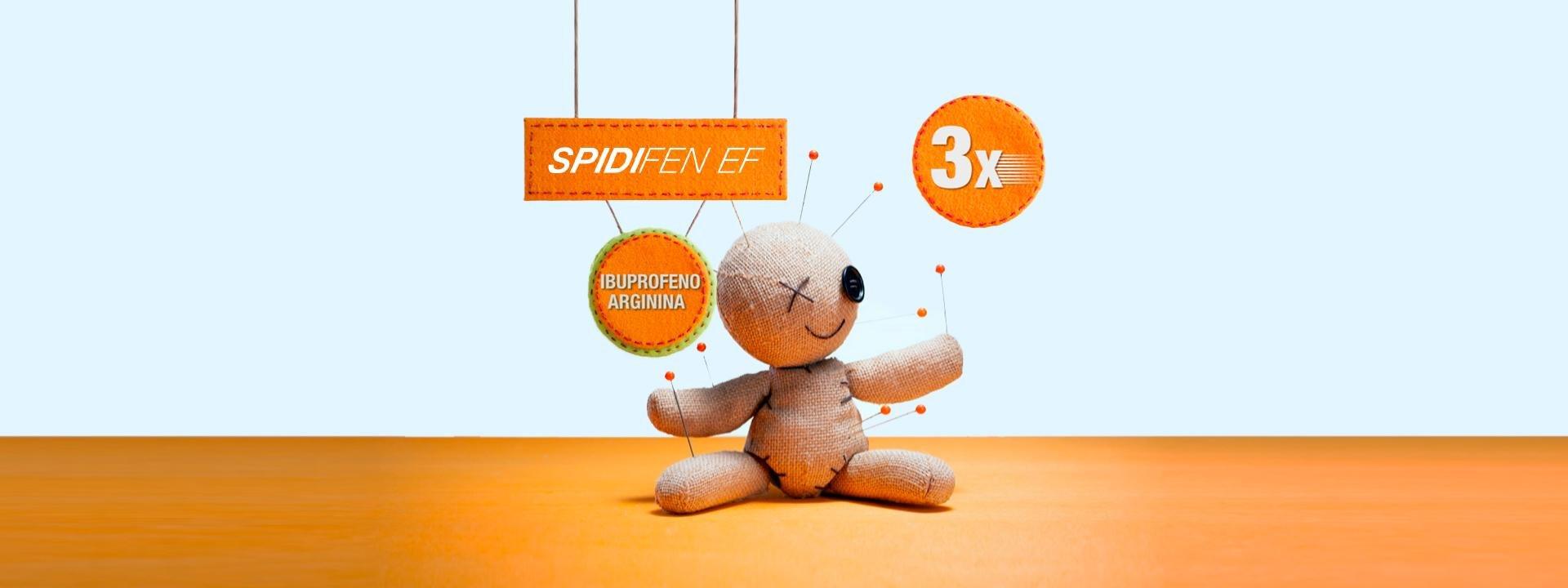 A absorção de Spidifen EF é 3 vezes mais rápida do que a do Ibuprofeno tradicional